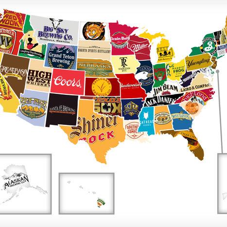 Red, White, and Booze: Mapping all 50 states' most iconic beer/hooch | General Marketing | Scoop.it