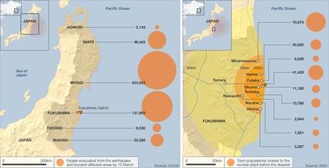[ENG] Les évacuations en carte   BBC   Japon : séisme, tsunami & conséquences   Scoop.it