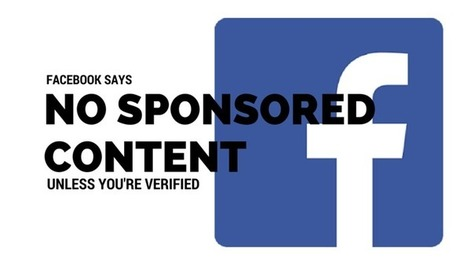 No Sponsored Content on Facebook Unless You Have a Verified Page - Search Engine Journal | SEO | Scoop.it