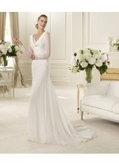 Sheath Column Scoop Court Train White Wedding Dresses H4pn0186 for $995 | Evening dress | Scoop.it