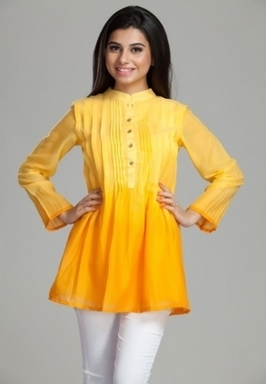 Find Best Discount Deals with Low Price on Designer Ombre Pleated Tunic for Womens, Buy Ombre Pleated Tunic Only Rs-1799 At Best Online Designer Store for ladies in India | Buy  Women Shirts‎ on itibeyou.com | Scoop.it