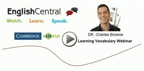 Vocabulary Webinar 2 | Applied Corpus Linguistics to Education | Scoop.it