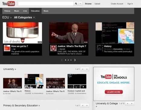La enseñanza ya tiene su canal en YouTube   Diseño Instruccional UNET   Scoop.it