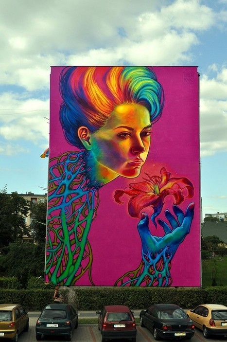 The Colorful Work of Natalia Rak – From Canvas to Multistory Mural | Culture and Fun - Art | Scoop.it