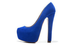 The Blue Christian Louboutin Daffodile Pumps Suede 160 Rough Heel | sexy Christian Louboutin shoes | Scoop.it
