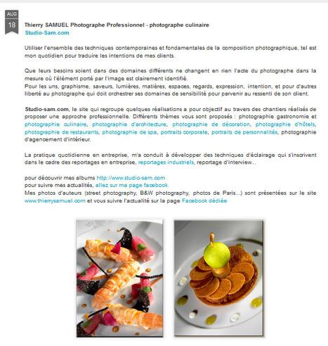 Blogspot Thierry SAMUEL photographe professionnel | Photographe culinaire - Hotellerie - Restauration | Scoop.it