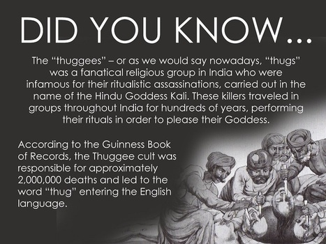 """Where """"Thugs"""" got its name 