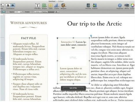 iBooks Author tutorial: Add HTML 5 animations to your iBooks | iCreate | Publishing with iBooks Author | Scoop.it