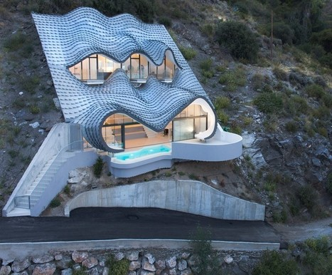 gilbartolomé buries metallic scaled residence into a cliff overlooking mediterrean | fap-arquitectura | Scoop.it
