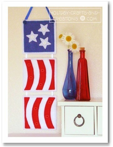 Beginner Sewing Patterns: Patriotic Wall Hanging | Easy Sewing Projects for Kids | Scoop.it