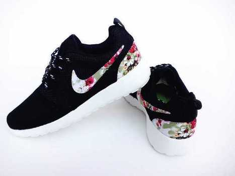 UK Trainers Nike Roshe Run Floral Womens All Black Fabric Flowers Size 3.5 - 6.5 Free Shipping Best Store To Get | Nike Roshe Run Black And White | Scoop.it