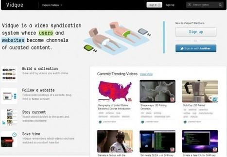 Vidque – Crea, descubre y comparte colecciones de vídeos | Cajón de sastre Web 2.0 | Scoop.it