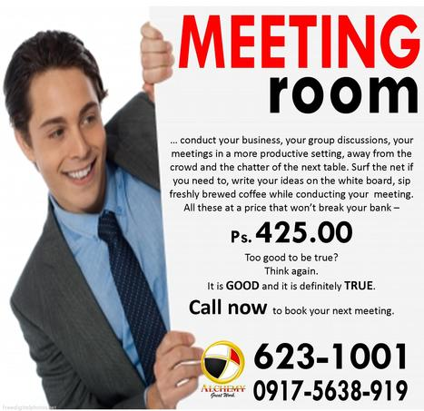 Full Service MEETING PLACE at P425.00 | Katipunan Gazette | Scoop.it