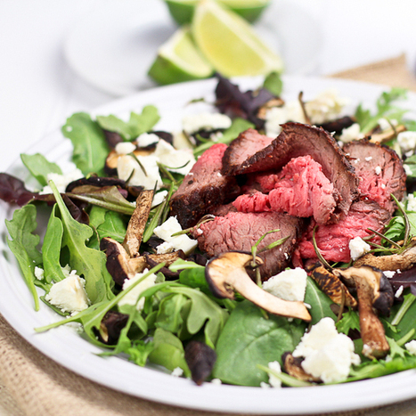 #Healthy #Recipe / Leftover Roast Beef Salad with Shiitake Mushrooms and Soft Goat Cheese | Healthy Food | Scoop.it