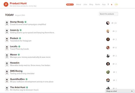 L'étonnante levée de fonds d'une (très jeune) startup : Product Hunt | Click & Mortar | Scoop.it
