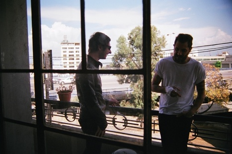 Eddy and Nader on the balcony of a building in Gemmayzeh. | Lebanese Alternative Music Scene | Scoop.it