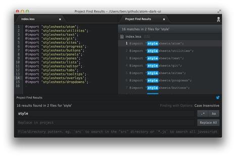 Atom - Le nouvel IDE créé par Github, alternative à Sublime Text ? | IDE par M.BRACCINI | Scoop.it