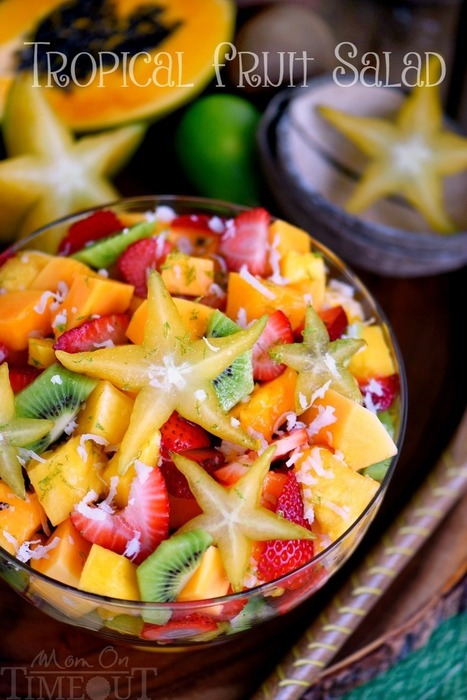 Tropical Fruit Salad with Honey Lime Dressing | Passion for Cooking | Scoop.it