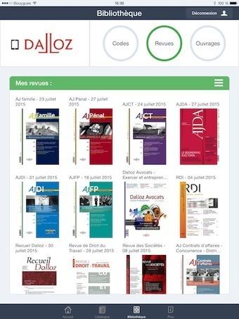Nouvelle application Dalloz disponible sur Android et iOS ! - Village de la justice (Blog) | Mobile Development | Scoop.it