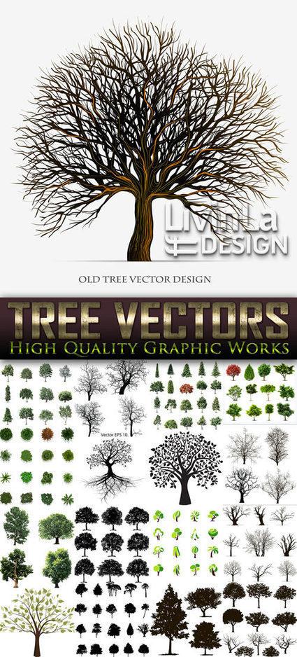 Exclusive - Tree Vectors, 17xEPS | DesignFeed | Scoop.it