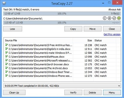 TeraCopy : copy and move files at the maximum possible speed | Le Top des Applications Web et Logiciels Gratuits | Scoop.it