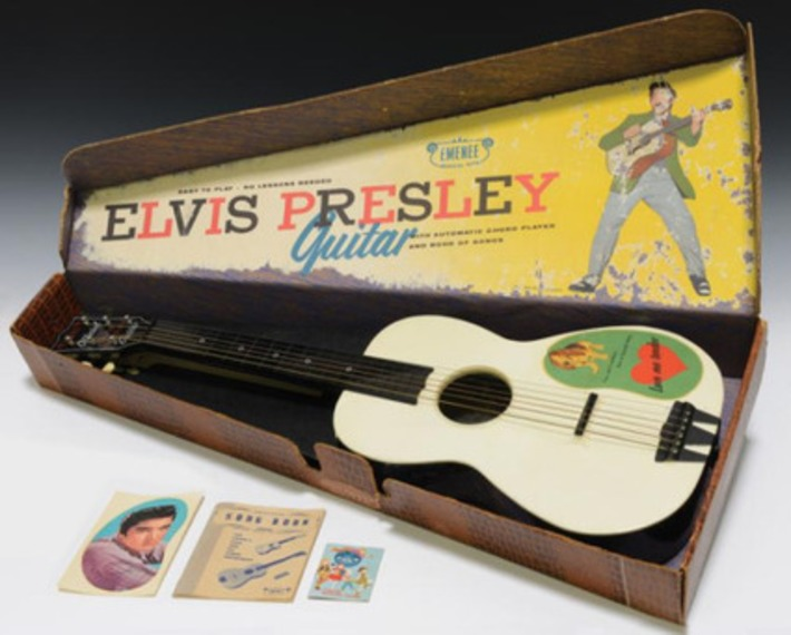 Vintage 1956 Elvis Presley Enterprises Six-String Toy Guitar with Original Box | Antiques & Vintage Collectibles | Scoop.it