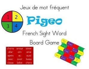 Jeux de mot Pigeo French Sight word board game | Primary French Immersion Education | Scoop.it