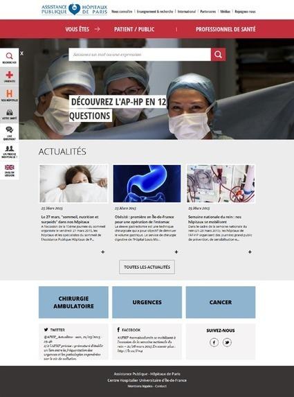 Le site web de l'AP-HP fait peau neuve   Innovation santé   Scoop.it
