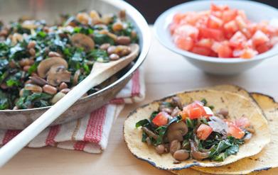 Mushroom Chard Tacos | Healthy Whole Foods | Scoop.it