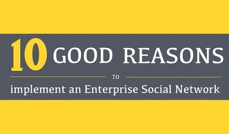 Visualistan: 10 Good Reasons To Implement An Enterprise Social Network [Infographic] | Social Media | Scoop.it