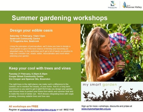 MY SMART GARDEN SUMMER WORKSHOPS | Beans and Bees | Scoop.it