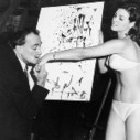 Salvador Dali and Raquel Welch in front of Dali's portrait of her, c. 1965 - via @berfrois | World Without Borders | Scoop.it