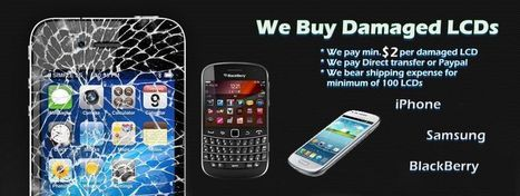 Sell your samsung, iphone & blackberry broken or damaged lcds to us   Broken lcds   Scoop.it