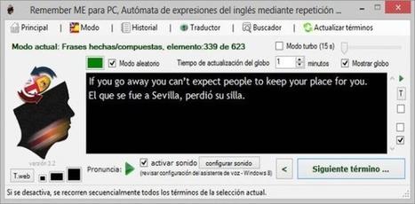 Remember ME: aprende o perfecciona tu inglés con este 'software' gratuito | AidaMm | Scoop.it