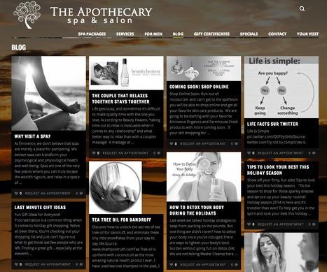 The Apothecary Spa | Showcase of custom topics | Scoop.it