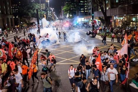 PM reprime com bombas manifestação contra Temer em São Paulo   Global politics   Scoop.it