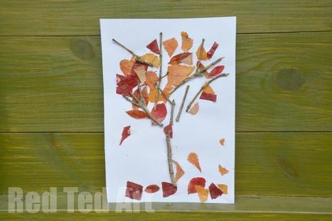 Four Seasons Crafts: Autumn Nature Tree - Red Ted Art's Blog   Εδώ Νηπιαγωγείο   Scoop.it