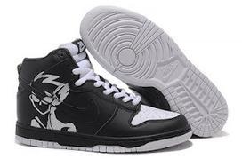 Naruto Nike Dunks   Nike Dunk SB High Men Naruto Black White   BHC.   Scoop.it
