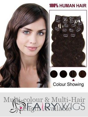 """7 Pcs from 12""""-30"""" Wavy Clip In Full Head Set : fairywigs.com 