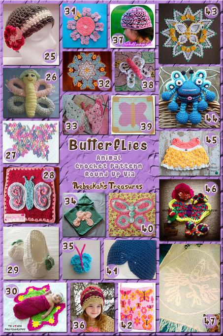 Butterflies - Animal Crochet Pattern Round Up | Blogging & Social Media | Scoop.it