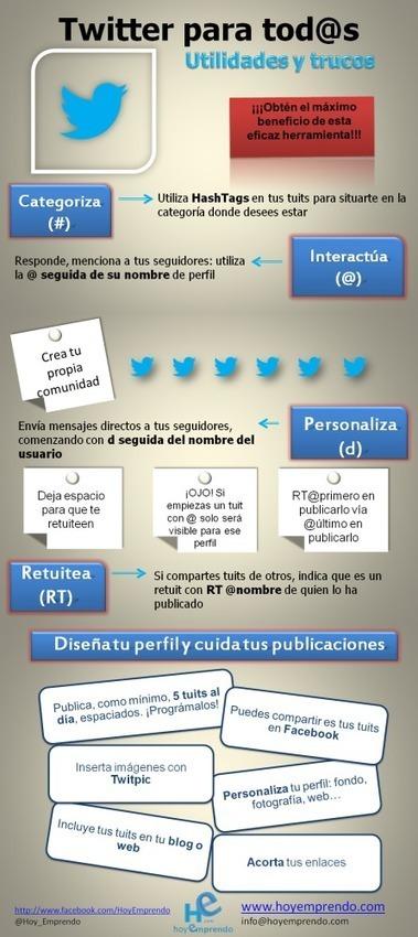 Twitter para todos: utilidades y trucos #infografia #infographic #socialmedia | Tuitea como un profesional | Scoop.it