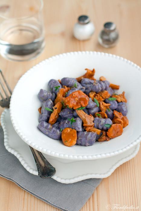 Gnocchi di patate vitelotte ai finferli — Fior di frolla | Ricette di cucina interessanti | Scoop.it