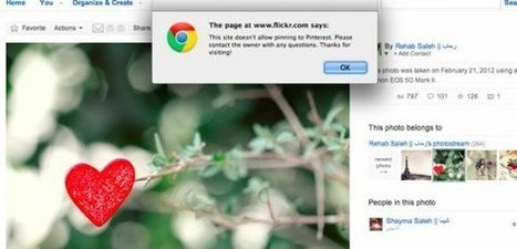 Copyrighted Flickr images protected from Pinterest | Ubergizmo | Social Media Epic | Scoop.it