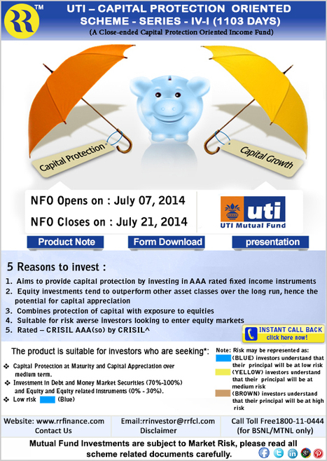 UTI Capital Protection Oriented Scheme Series -IV-I (1103 Days) | Mutual Fund | Scoop.it