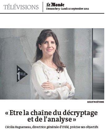 Cécilia Ragueneau : «Etre la chaîne du décryptage et de l'analyse» | DocPresseESJ | Scoop.it