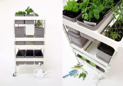 Industrial Reading by Wyn Jones - Industrial Design Blog: Mobile Food Garden Improves Urban Living Gardening Experience | Balcony Gardening | Scoop.it