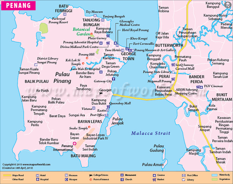 Penang Map | City Map of Penang, Malaysia | Travel Guide | Scoop.it