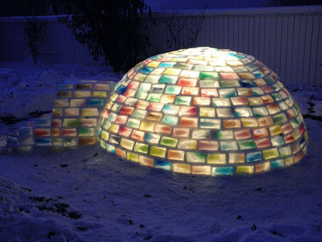 Rainbow Igloo Made Using 500 Milk Cartons | CTE Marketing | Scoop.it
