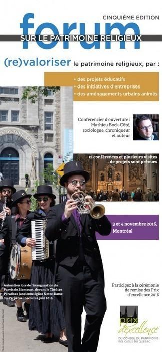 Québec 5e édition du Forum sur le patrimoine religieux | L'observateur du patrimoine | Scoop.it