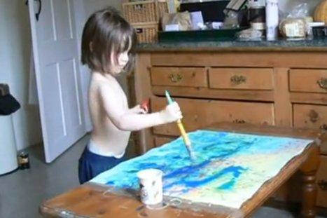 Une autiste de 3 ans réalise d'incroyables tableaux impressionnistes (VIDÉO/PHOTOS)   Autisme actu   Scoop.it
